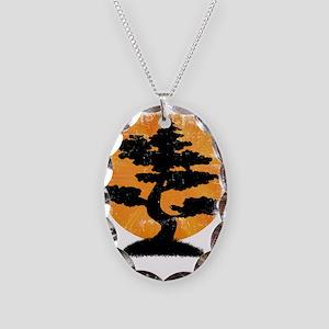 Vintage Bonsai Necklace Oval Charm