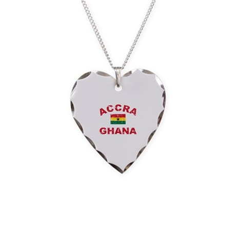 Accra Ghana designs Necklace Heart Charm
