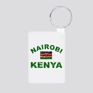 Nairobi Kenya designs Aluminum Photo Keychain