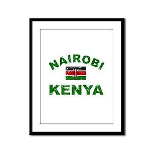 Nairobi Kenya designs Framed Panel Print
