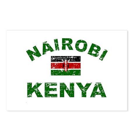 Nairobi Kenya designs Postcards (Package of 8)