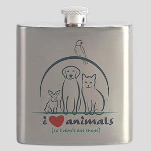 i love animals so i don't eat them Flask