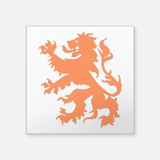 "Dutch Lion Square Sticker 3"" x 3"""