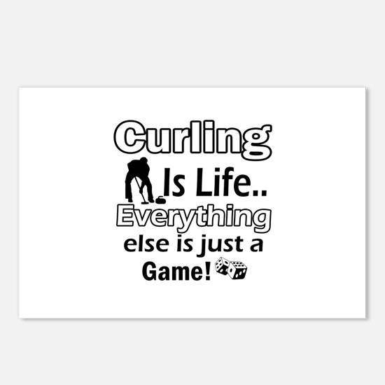 Curling Is Life Designs Postcards (Package of 8)