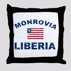 Monrovia Liberia designs Throw Pillow