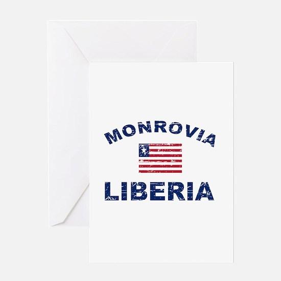 Monrovia Liberia designs Greeting Card