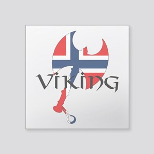 "Norway Viking Square Sticker 3"" x 3"""