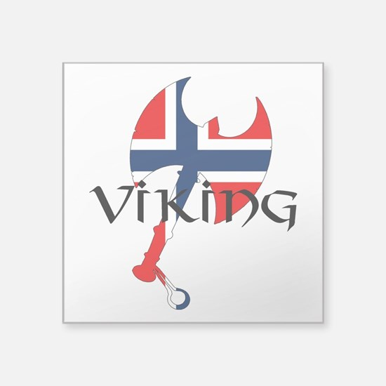 "Norway Viking Square Sticker 3"" x 3"""