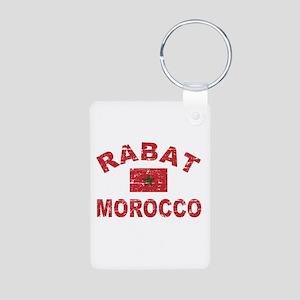 Rabat Morocco designs Aluminum Photo Keychain