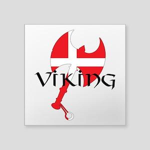 "Denmark Viking Axe Square Sticker 3"" x 3"""