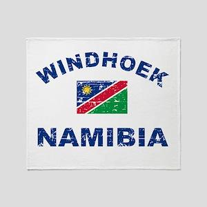 Windhoek Namibia designs Throw Blanket