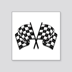"Chequered Flag Square Sticker 3"" x 3"""