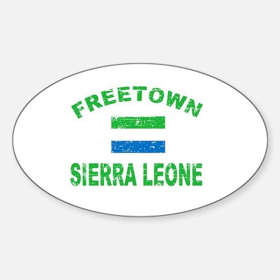 Freetown Sierra Leone designs Sticker (Oval)