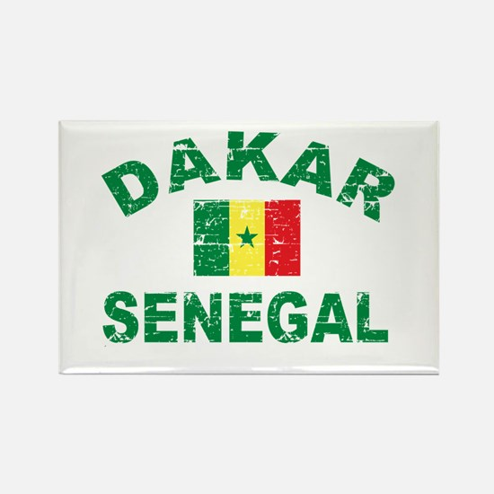 Dakar Senegal designs Rectangle Magnet