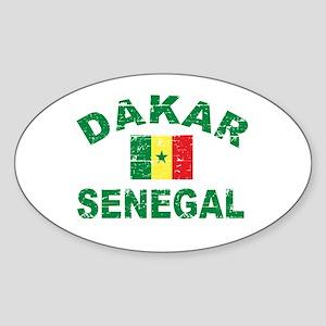 Dakar Senegal designs Sticker (Oval)