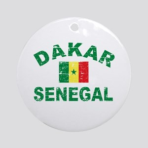 Dakar Senegal designs Ornament (Round)