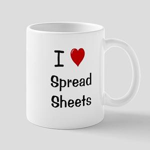 I Love Spreadsheets Mug - Office Mug