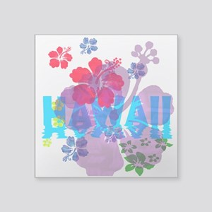 "Hawaii Hibiscus Square Sticker 3"" x 3"""