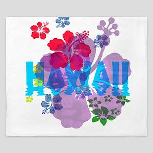 Hawaii Hibiscus King Duvet