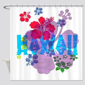Hawaii Hibiscus Shower Curtain