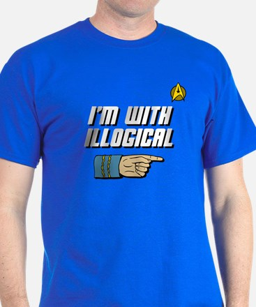 I'm With Ilogical T-Shirt (blue)