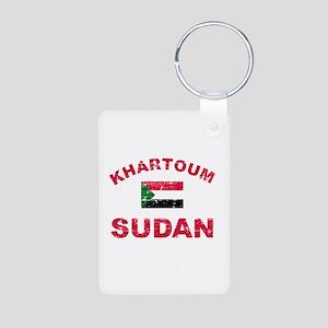 Khartoum Sudan designs Aluminum Photo Keychain