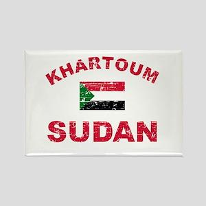 Khartoum Sudan designs Rectangle Magnet