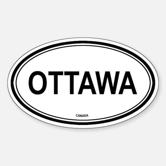 Ottawa, Canada euro Oval Decal