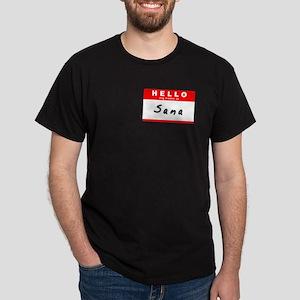 Sana, Name Tag Sticker Dark T-Shirt