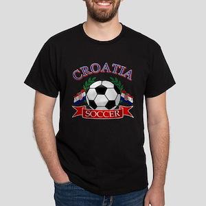 Croatia Soccer Designs Dark T-Shirt