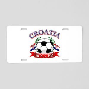 Croatia Soccer Designs Aluminum License Plate
