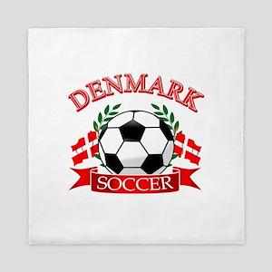 Denmark Soccer Designs Queen Duvet