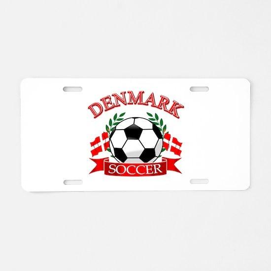 Denmark Soccer Designs Aluminum License Plate