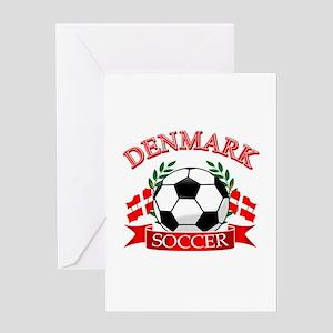 Denmark Soccer Designs Greeting Card