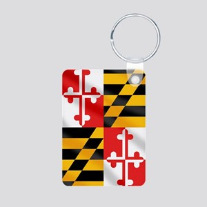 Flag of Maryland Aluminum Photo Keychain