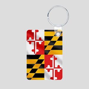 Flag of Maryland Aluminum Photo Keychain