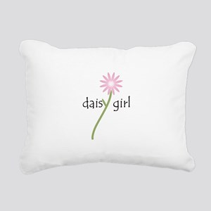 Daisy Girl (pink Flower) Rectangular Canvas Pillow