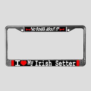 NB_Irish Setter License Plate Frame