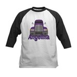 Trucker Angelina Kids Baseball Jersey