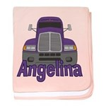 Trucker Angelina baby blanket