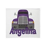 Trucker Angelina Throw Blanket
