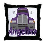 Trucker Angelina Throw Pillow