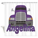 Trucker Angelina Shower Curtain