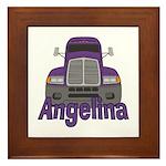 Trucker Angelina Framed Tile