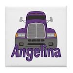 Trucker Angelina Tile Coaster