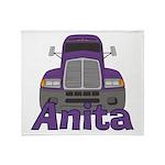Trucker Anita Throw Blanket