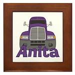 Trucker Anita Framed Tile
