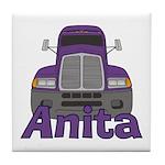 Trucker Anita Tile Coaster