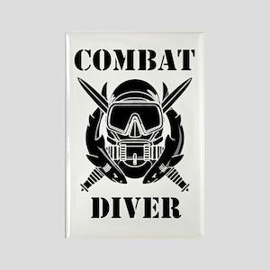 Combat Diver (3) Rectangle Magnet