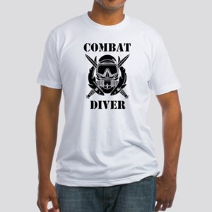 Combat Diver (3) Fitted T-Shirt